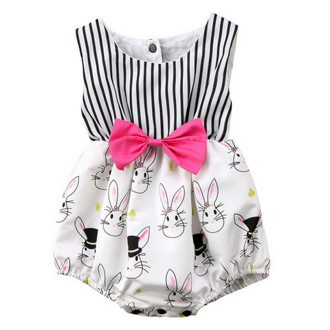Bunny Bowknot Jumpsuit - Rowley's Baby Boutique  - Express U.S. Delivery