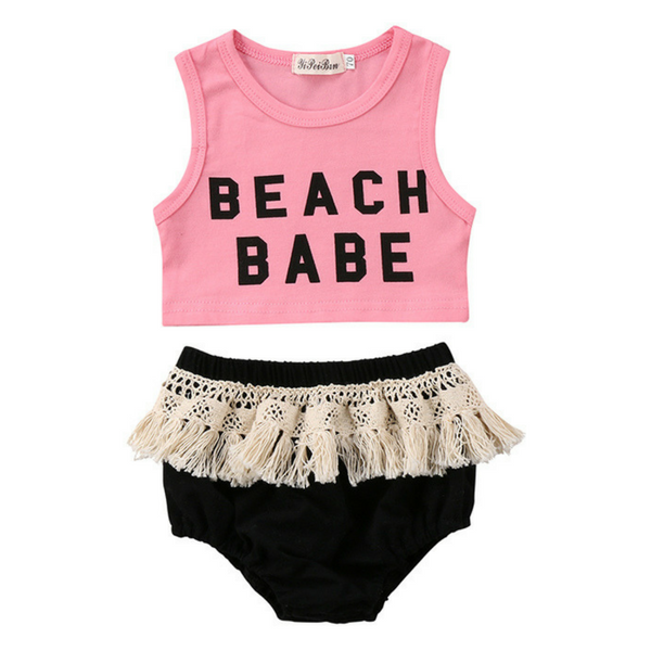 Beach Babe Outfit - Rowley's Baby Boutique  - Express U.S. Delivery