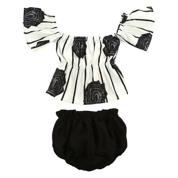 Aaliyah's Floral Outfit - Rowley's Baby Boutique  - Express U.S. Delivery