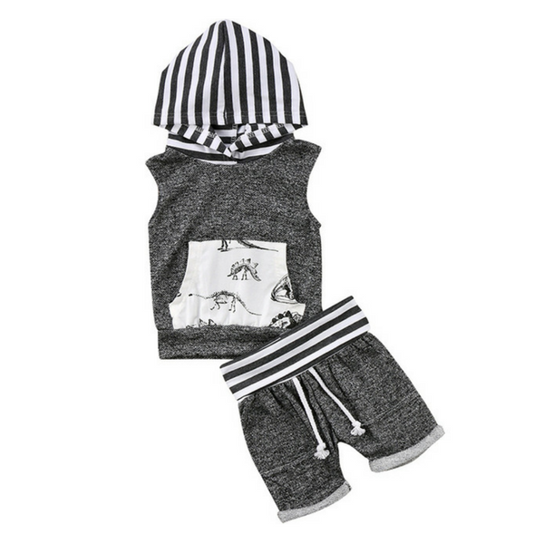 Christopher's Hooded Outfit - Rowley's Baby Boutique  - Express U.S. Delivery