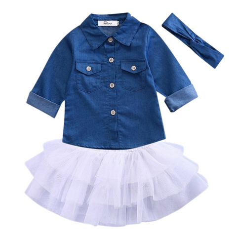 Denim Skirted Outfit - Rowley's Shop - 4 Days U.S. Delivery