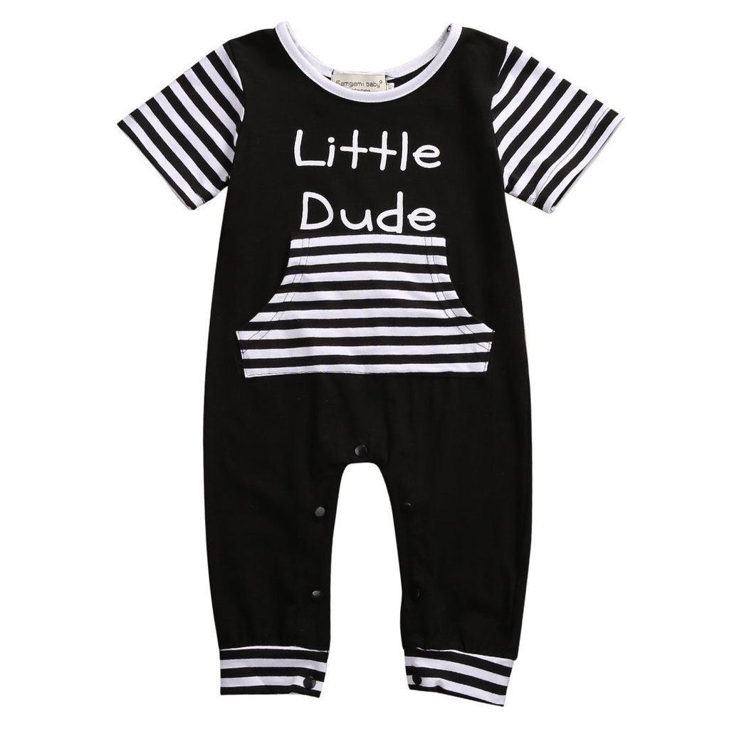Little Dude Romper - Rowley's Baby Boutique  - Express U.S. Delivery