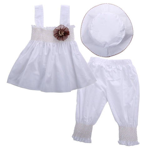 Bay's White Outfit - Rowley's Baby Boutique  - Express U.S. Delivery