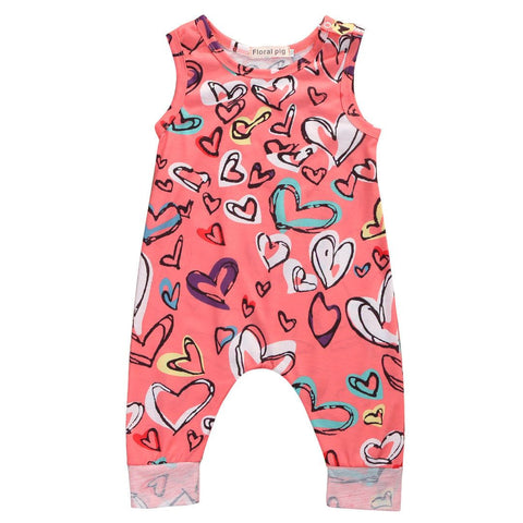Hearts Romper - Rowley's Baby Boutique  - Express U.S. Delivery