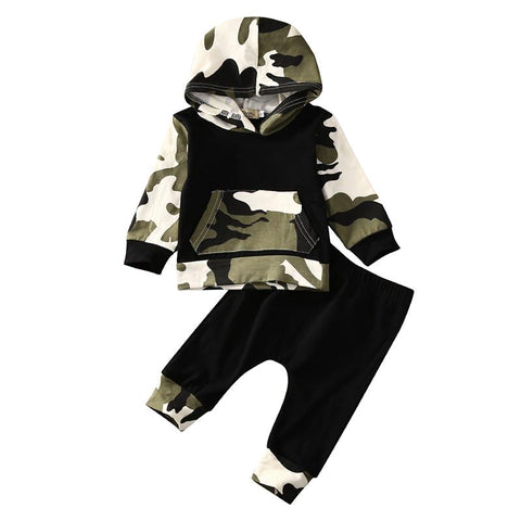 Camo Hoodie Set - Rowley's Baby Boutique  - Express U.S. Delivery