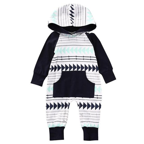 Evan Hooded Romper - Rowley's Baby Boutique  - Express U.S. Delivery