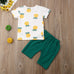 Liam's Pineapples Outfit - Rowley's Baby Boutique  - Express U.S. Delivery