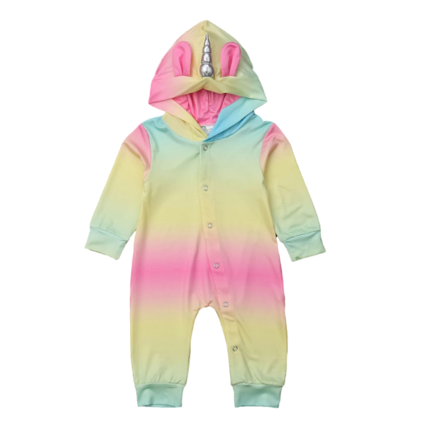 Clara's Unicorn Romper - Rowley's Baby Boutique  - Express U.S. Delivery