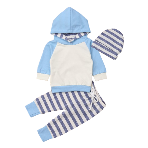 Azure Hooded Outfit - Rowley's Baby Boutique  - Express U.S. Delivery