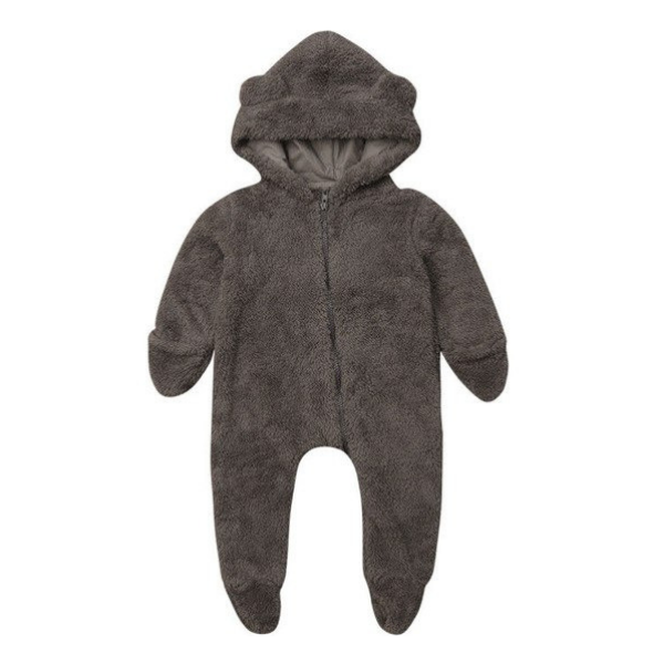 Fleece Bear Romper - Rowley's Baby Boutique  - Express U.S. Delivery