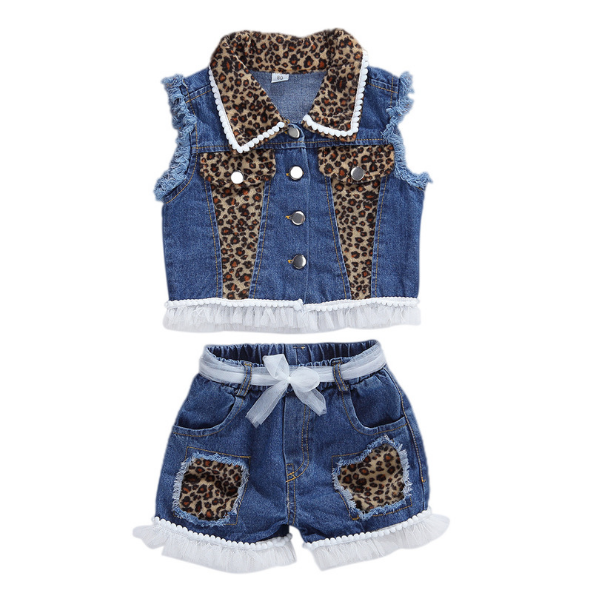 My Leopard Denim Set