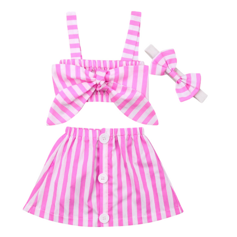 Striped Skirt Set