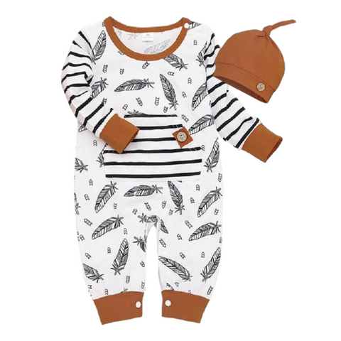 Ethan's Feathers Romper
