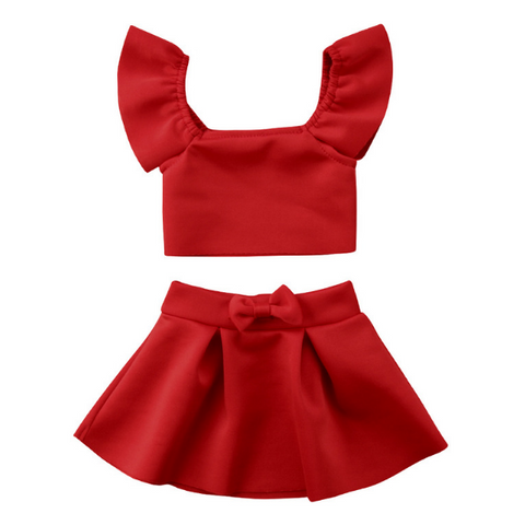 Sarah's Red Skirt Set