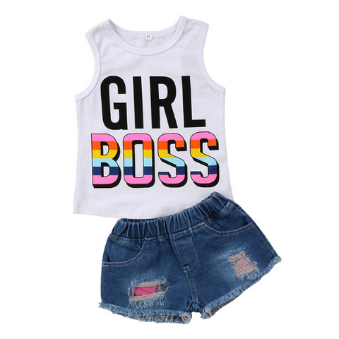 Girl Boss Outfit - Rowley's Baby Boutique  - Express U.S. Delivery