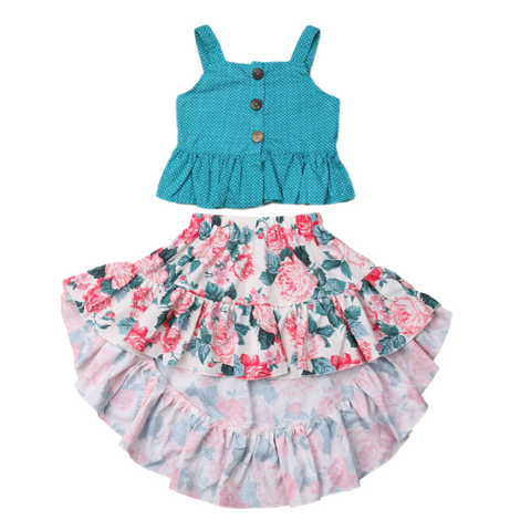 Blossom Skirt Set - Rowley's Baby Boutique  - Express U.S. Delivery