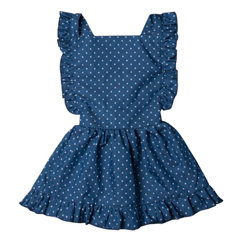 Dots Princess Dress - Rowley's Baby Boutique  - Express U.S. Delivery