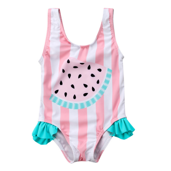 Watermelon Striped Swimsuit