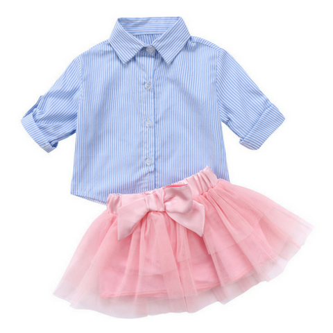 Leah Bow Skirt Set - Rowley's Baby Boutique  - Express U.S. Delivery