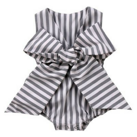 Big Bow Playsuit - Rowley's Baby Boutique  - Express U.S. Delivery