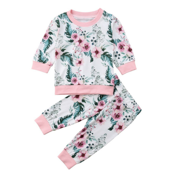 Charlotte's Floral Set - Rowley's Baby Boutique  - Express U.S. Delivery