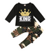 Camo King Outfit - Rowley's Baby Boutique  - Express U.S. Delivery