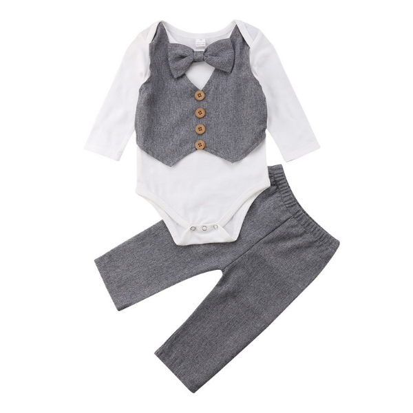 Little Gentleman Set - Rowley's Baby Boutique  - Express U.S. Delivery