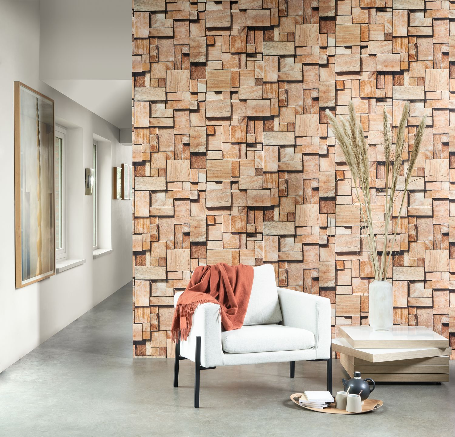Mural/Painel Panoramas CUBES - 86082548 Marron