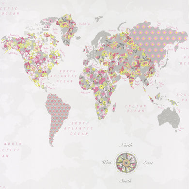 Pretty Lili -WORLD MAP-PRLI69184677 Rosa e Verde