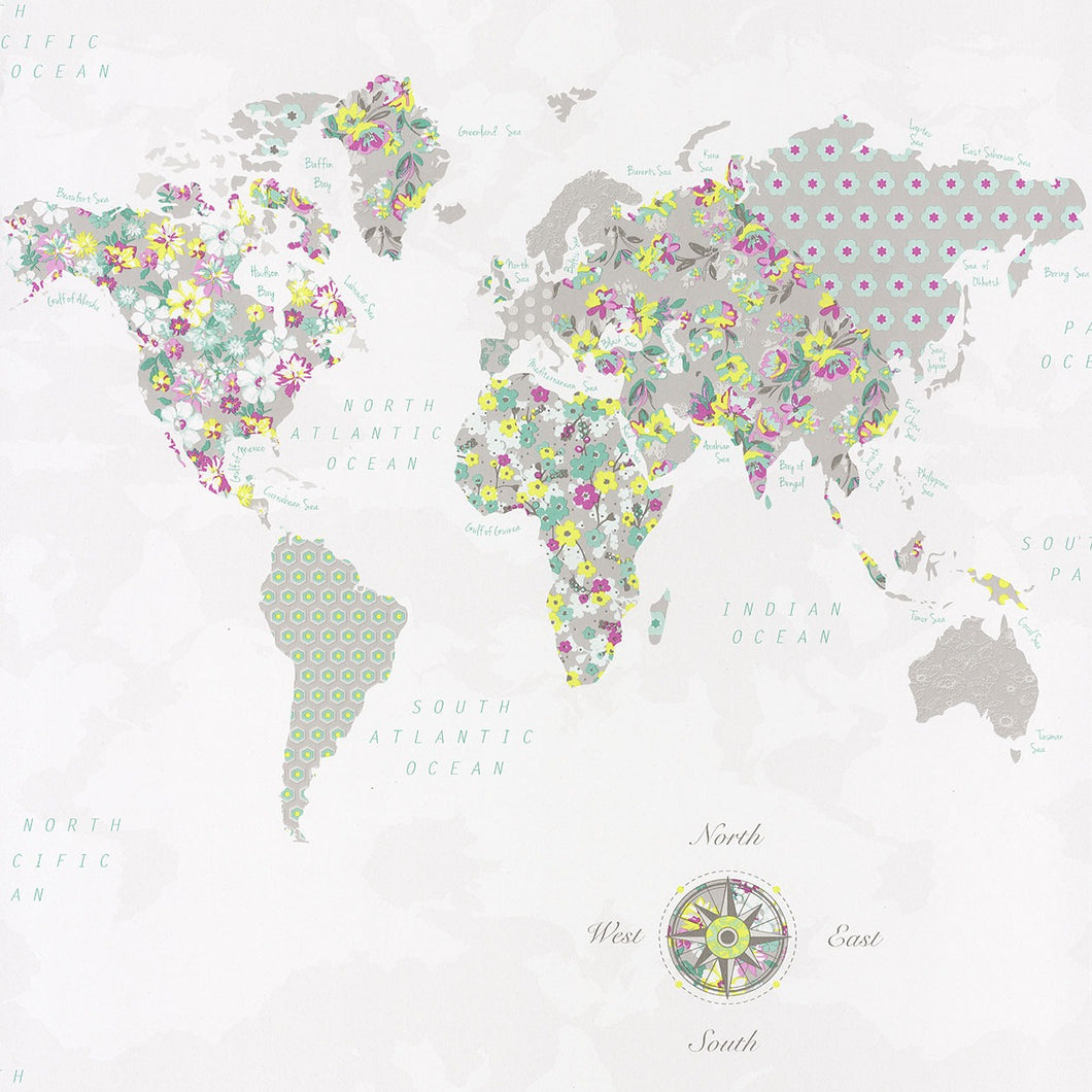 Pretty Lili -WORLD MAP-PRLI69185070 Lilás e Verde