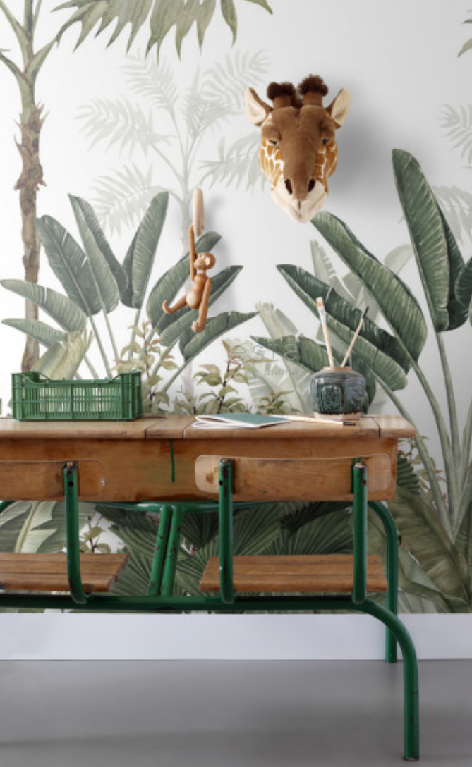 Mural/Painel PARADISE - Jungle White EH158951