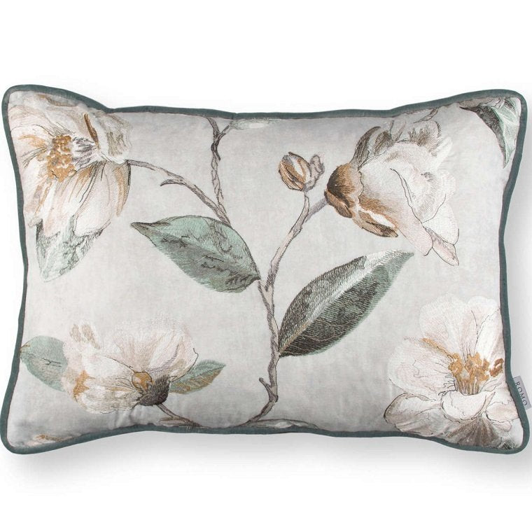 Almofada - Japonica Embroidery Cushion Eucalyptus -RC701-01