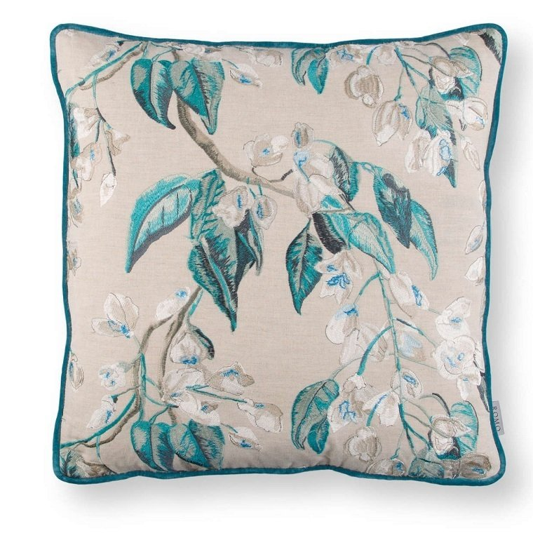Almofada - Wisteria Embroidery Cushion Peacock -RC706/02