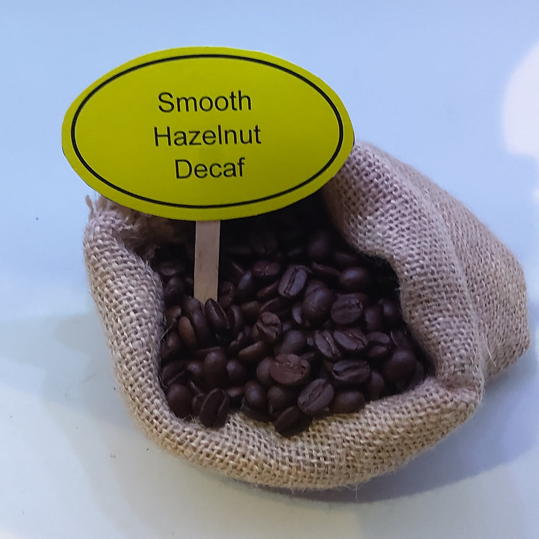 Smooth Hazelnut Decaf Coffee Beans