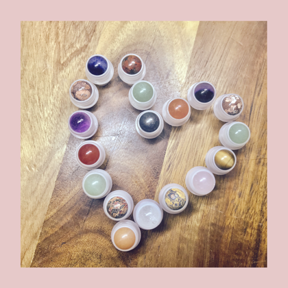 Gemstone Roller balls for essential oils