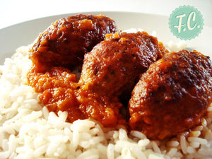 Soutzoukakia in tomato sauce and rice Frozen