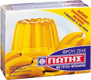 Yiotis Jelly Crystals Banana Flavour