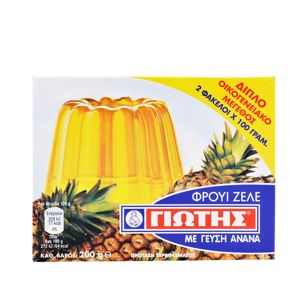 Yiotis Jelly Crystals Pineapple Flavour