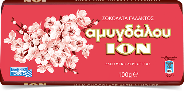 ION Milk Chocolate with Almonds 100 g