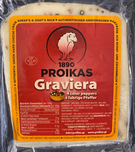 Cheese Graviera Sheep's & Goat's milk 4 Peppers Vacuum Proikas