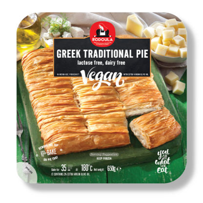 Greek Traditional Pie Vegan with Cheese Substitute