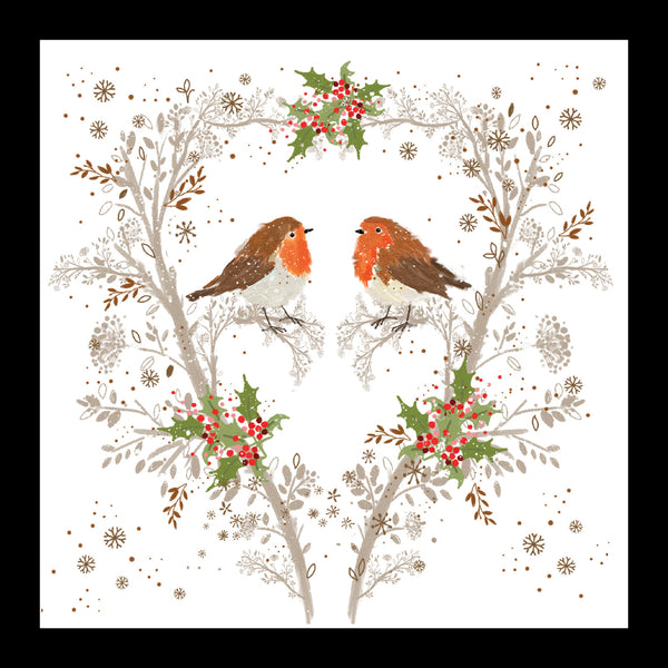 "Robins in a Holly Tree<p style=""color_gold"">LUXURY RANGE"