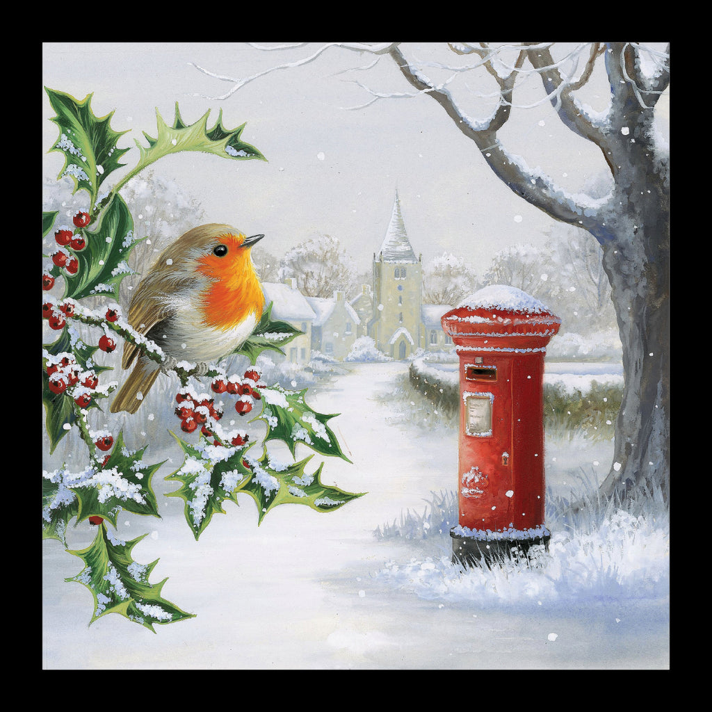 "Robin on a Holly Bush<p style=""color_gold"">LUXURY RANGE"
