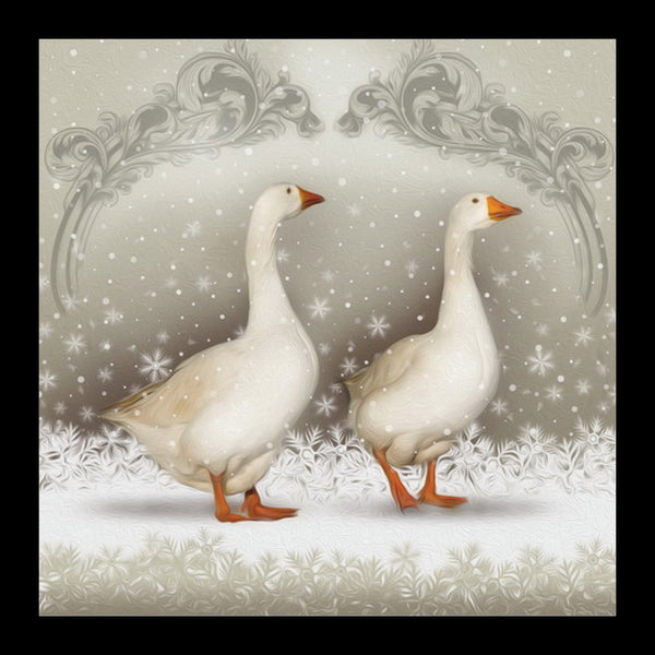 "Christmas Geese<p style=""color_gold"">LUXURY RANGE"