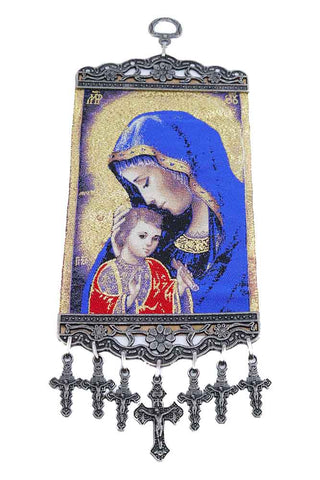 Christian Icon Tapestry Mother of God Baby Jesus