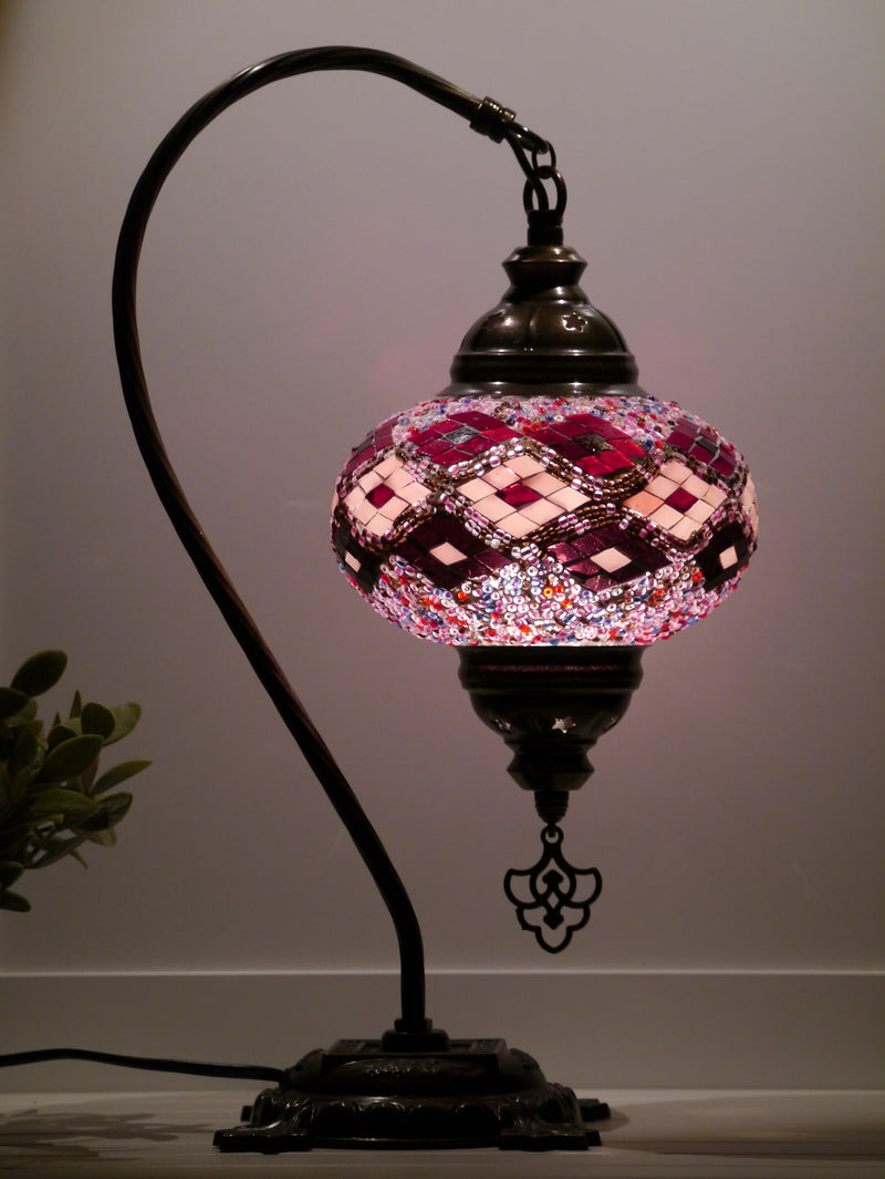 Turkish Lamps Purple Colour