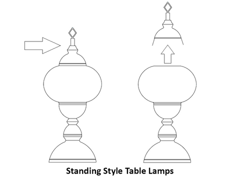 how to change light bulb of turkish lamps