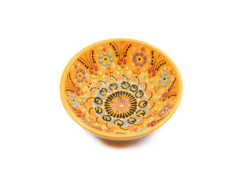Handmade Turkish Ceramic Bowls Yellow Colour