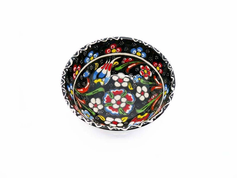 10 cm Turkish Bowls Flower Collection Black