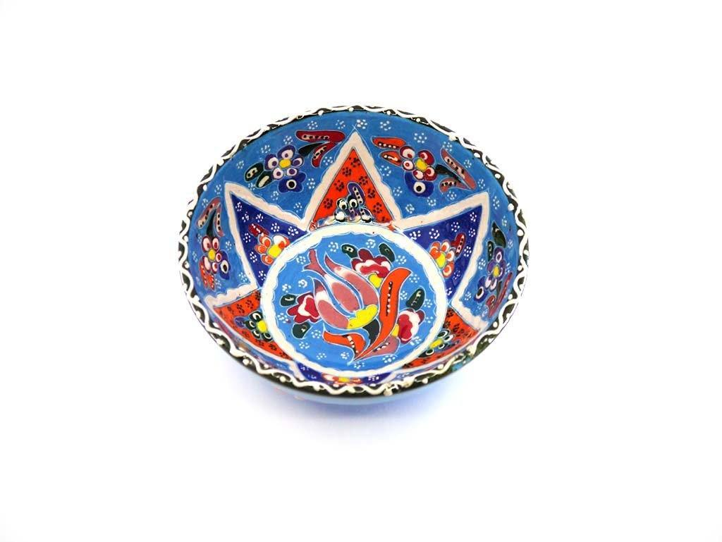 Turkish Bowls Flower Collection Light Blue